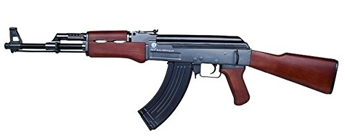 Nerd Clear Softair-Gewehr AK 47 Wood schwarz braun Federdruck 6mm ca. 87cm lang < 0,5 Joule ab 14 J. -