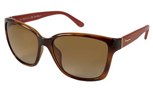 Ferragamo occhiali da sole 716s_207 (58 mm) avana/rosso
