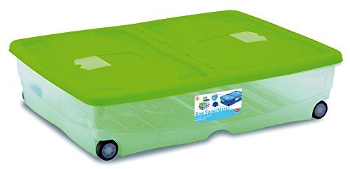 Stefanplast Super Mario trendige Farbe stefanbox Fall mit Deckel, cyan/kobalt blau/magenta, 80x 60x 18cm Doppel-einheit-box