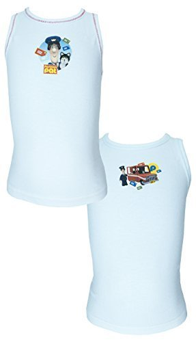 Image of Pack of 2 Postman Pat Cotton Vests - 3-4 Years / 104 cm