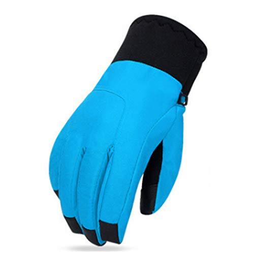 Cvthfyk ei guanti invernali da sci guanti touch screen guanti caldi da esterno guanti impermeabili in cotone impermeabile antivento (color : sky blue, size : xl)