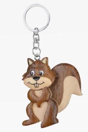 �rnchen Backenhörnchen Eichhörnchen Schlüsselanhänger aus Holz ()