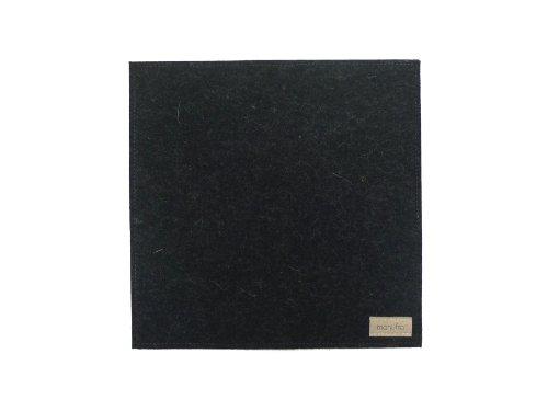 Preisvergleich Produktbild manufra Untersetzer / Mauspad 100 % Schurwollfilz (60301050) Filz anthrazit rutschfest