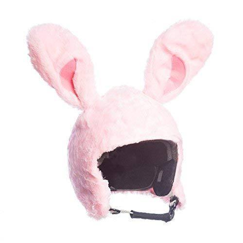 Casco da sci costume da coniglio Bunny rosa, rivestimento,