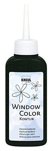 Kreul 42774 Window Color Konturenfarbe, 80 ml, schwarz