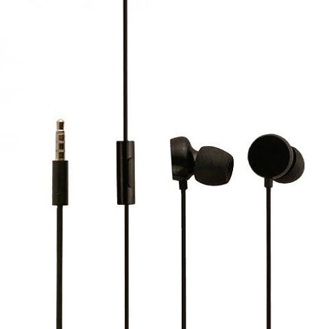 Original Nokia Headset Wh-208 in schwarz für Nokia Lumia 800 Kopfhörer mit Anrufannahmeknopf