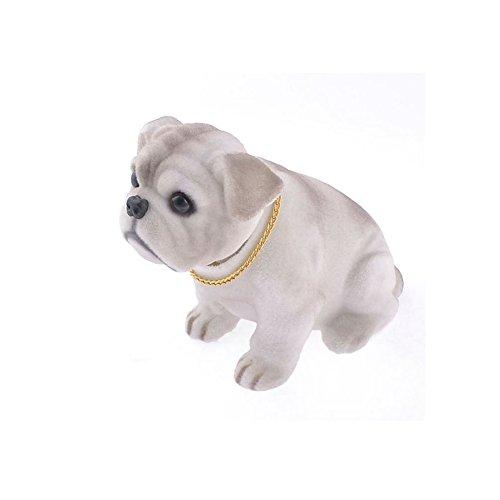 hotrodspirit - chien de plage arriere de voiture bulldog gris collector