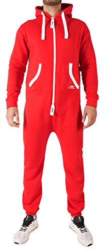 Finchman BE3 Herren Jumpsuit Jogging Anzug Trainingsanzug Overall Rot S