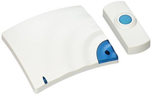 Wireless Doorbell, Battery Operated, 1-3/8w x 3/4d x 3-1/2h, Bone, Sold as 1 Each Alert-ringer