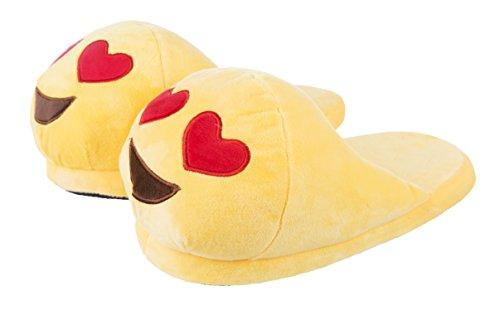 Emoji Love Heart Smiley Slippers
