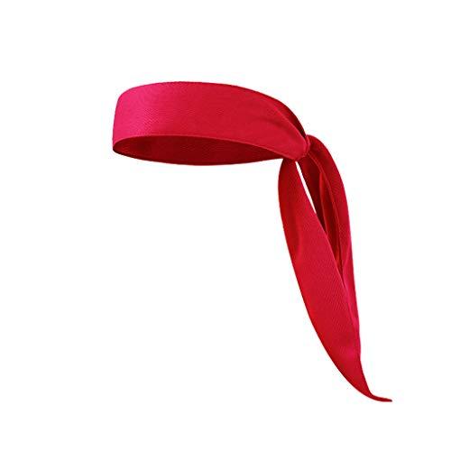 MMOOVV Head Tie Sport Stirnband Laufen Tennis Karate Piraten Stretch Feuchtigkeitstransport (Rot)