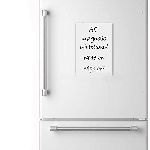Memo Board, Magnet A5Trocken abwischbares Whiteboard, Kühlschrank Magnet KÜCHE Büro -