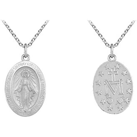 Plata Virgen María, Medalla Milagrosa. caja de Regalo