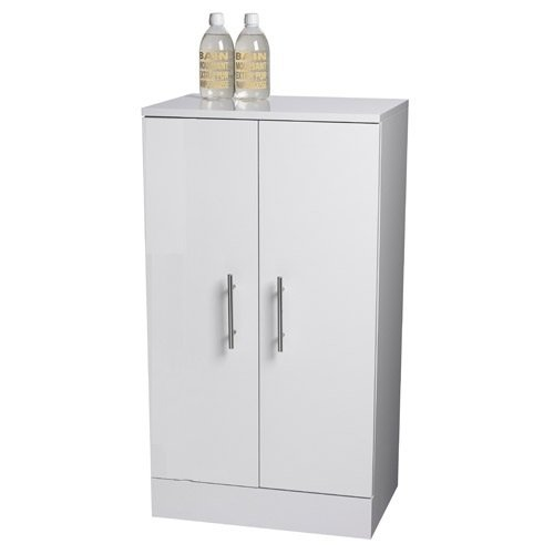 Vito Freestanding White Double Door Bathroom Cabinet By Showerdrape