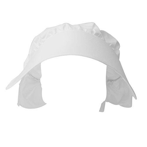 Cuffia bianca vittoriana da bambina ideale per costumi teatro o carnevale