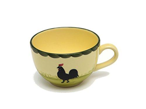 Zeller Keramik Hahn und Henne Obertasse Tasse Trinkgefäß Geschirr Schale