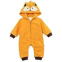 42dd7e0a1 QSEFT Unisex Baby Rompers Cartoon Animal Clothing Set Winter Girls Warm  Fleece Clothes Boys Foot Overalls