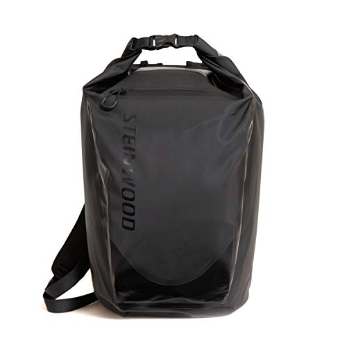 Steinwood Waterproof Dry-Bag 35L Multifunktions-Rucksack - Roll-Top Outdoor-Backpack - Daypack wasserdicht mit Taschen für Laptop und Zubehör (Rucksack Oakley Computer)
