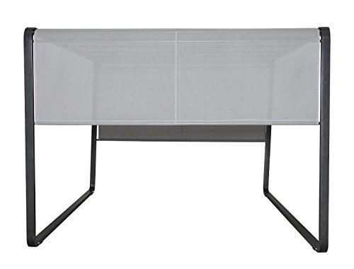 Leco Milano, Aluminiumrahmen und Stahldachrohre mit Pulverbeschichtung, anthrazit, Kunststoffgewebe 1 x 1, lichtgrau