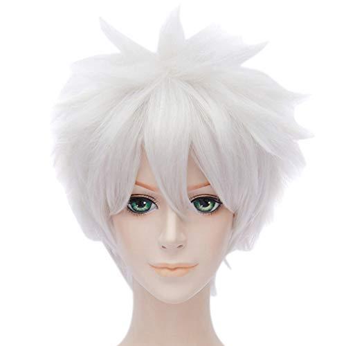 HongHu Casual Short Warped Wigs Cosplay Anime Disfraz