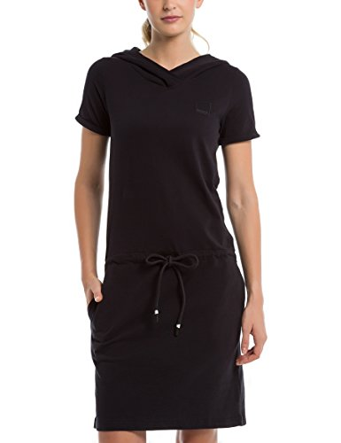 Bench Damen Kleid Hoody Jersey Dress, Schwarz (Black Beauty Bk11179), Small (Herstellergröße: S)