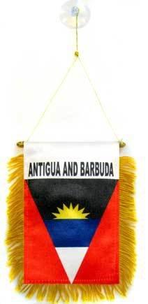 AZ FLAG Fanion Antigua-et-Barbade 15x10cm - Mini Drapeau antiguais 10 x 15 cm spécial Voiture - Bannière