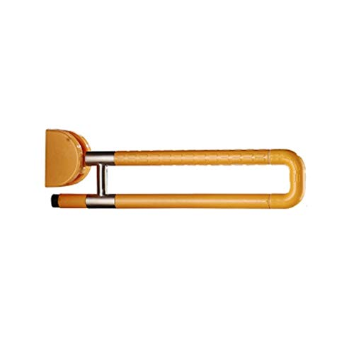 Szh shop Faltbare Handicap-Schaukel-Haltegriff-Badezimmer-Haltegriffe an der Wand, Notduschehand for ältere Menschen Behinderte/ältere Menschen, Toiletten-Sicherheitsgeländer (Color : Yellow)