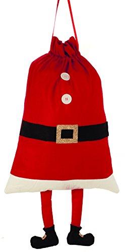 Gran saco de Papá Noel con piernas