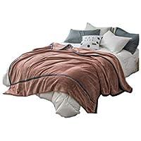 XDFCV Textiles,warmes Innenzubehör Decke Verdicken Warm-Coral Fleece Herbst Und Winter Doppel-Flanell Doppelseitige Decke