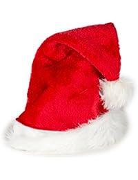 Weihnachtsmütze Nikolausmütze Rot Classic für Kinder und Damen Größe Medium X10