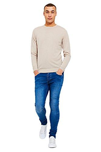 Threadbare Mens Knitted Jumper Pull Over Long Sleeve Sweater