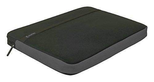 Eurosell - Neopren Notebook Laptop Case Hülle Tasche Etui - schwarz grau 15 15,4 16 Zoll