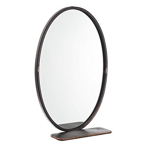 Estante con Espejo de Metal Negro Industrial para Cuarto de baño Factory - LOLAhome