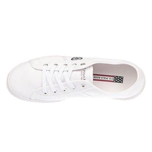 U.S. POLO Sneaker Herrenschuhe mit Schnürsenkeln - mod. SOLAN4189S7-C1 Weiß