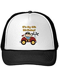 Funny Red Race Car 6Th Birthday ?T-Shirts And Gifts Trucker Hat