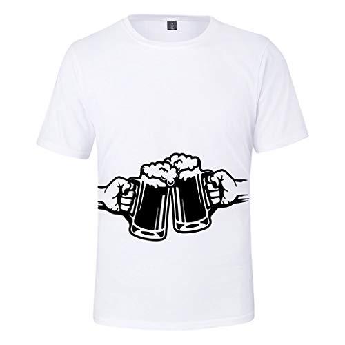 Gruppe Top Kostüm Halloween - UFODB Oktoberfest Herren T-Shirt Blume Fun-Shirt Shirt Premium 3D Print Kurzarm Oberteile Sportshirt Longshirt Tops Oversize, M-4XL