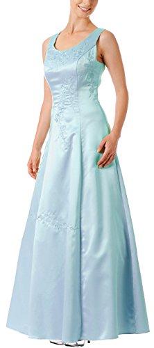 Abendkleid festlich lang Brautmutterkleid Brautjungfernkleid Ballkleid A-Linie breite Träger...