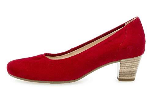 Gabor Comfort Basic 26.180.48 - Scarpe décolleté da Donna, Misura Grande, Colore: Rosso, Rosso (Rubino), 44.5 EU Weit