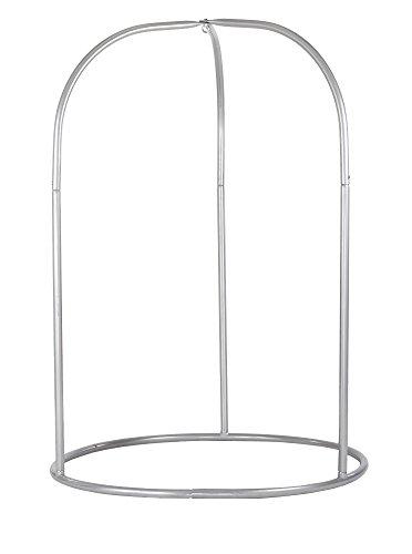 LA SIESTA Romano Silver - Pulverbeschichtetes Stahl-Gestell für Hängestühle Basic oder Lounger