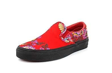 18f2a2084d Vans Classic Slip on Festival Satin Damen Rot Sneakers  Amazon.de ...