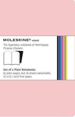 Moleskine Volant Notizhefte (blanko, Pocket, Weicher Einband) 2er-Set pink/magenta (Moleskine 2er-set)