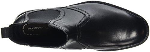 Rockport Herren Dressports Modern Chelsea Boots Schwarz (BLACK LEA)