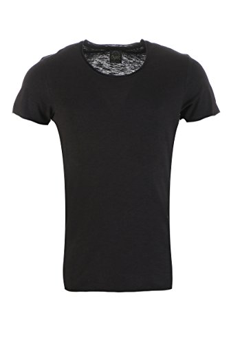 JACK & JONES Herren T-Shirt Jorbas Tee Ss U-Neck Noos Black