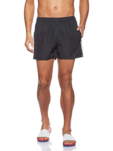 adidas Herren 3-Streifen Very-Short-Length Badeshorts, Black/White, M