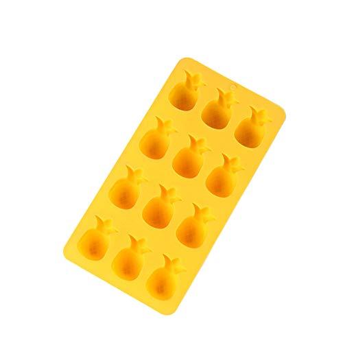 LCLrute Bac à Glaçons Moules Modèle Mignon bac à glaçons bac à Glace Moule à glaçons conteneurs de Stockage (Jaune)