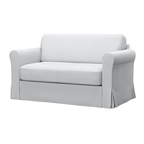 Soferia - IKEA HAGALUND Funda para sofá Cama, Elegance White