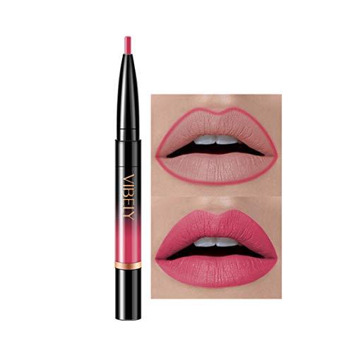 Kltipeng Double-end Lasting Lipliner Waterproof Lip Liner Stick Pencil 16 Color(D)