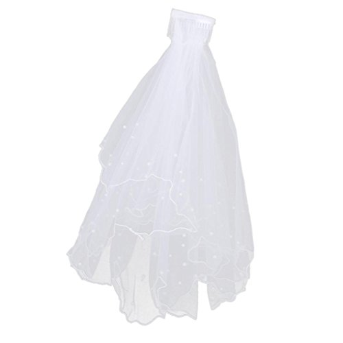 2 Tier New White Wedding Bridal Veil With Comb