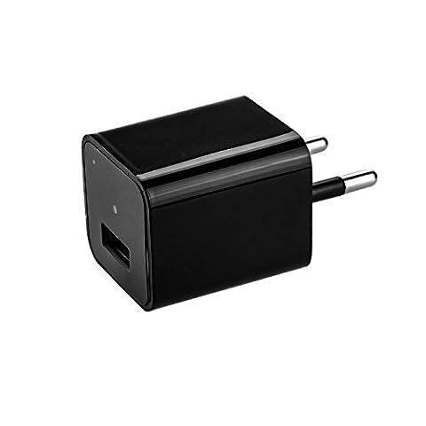 KOBERT-GOODS Full HD USB Charger Kamera M1 mit 5 Mio. Pixel Überwachungskamera und 32 GB internen Speicher, Langzeitüberwachung versteckte Videoüberwachung, Spy Cam
