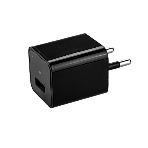 KOBERT GOODS Ladegerät-Attrappe mit integrierter Full HD Kamera M1B Smart-Charger -Überwachungskamera 1080P für Videoaufnahmen inkl. Ton und Bewegungserkennung - simuliert Laden von Handys (Spion-kameras)